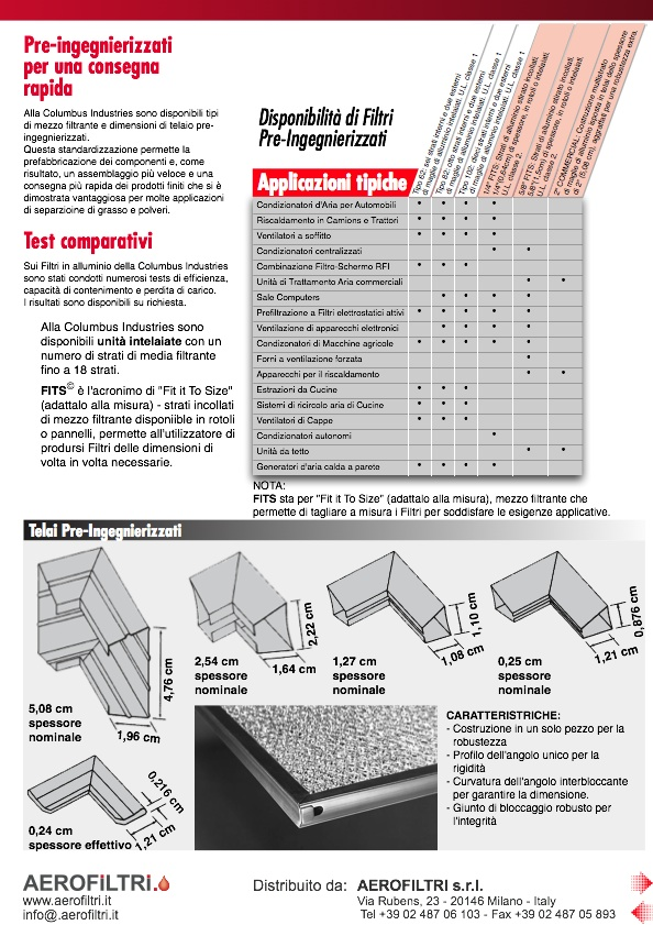 Prospetto All Aluminium Air Filters  FITS - Pagina 2
