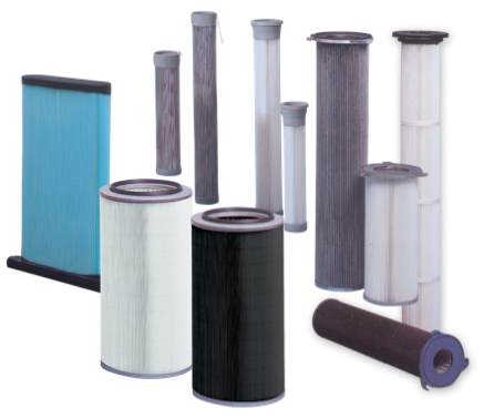 Filters for dust collection Paper and Polyester Cartridges